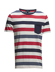 MULTISTRIPE T-SHIRT - EVENING BLUE