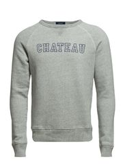 CHATEAU C-NECK SWEAT - STEEL GREY MELANGE