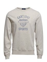 W. SPORTS C-NECK SWEAT - LIGHT GREY MELANGE