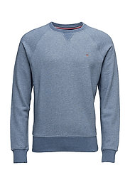 GANT ORIGINAL C-NECK SWEAT - DENIM BLUE MEL