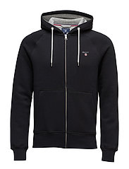 GANT ORIGINAL FULL ZIP SWEAT HOODIE - BLACK