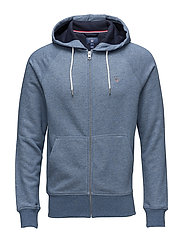 GANT ORIGINAL FULL ZIP SWEAT HOODIE - DENIM BLUE MEL