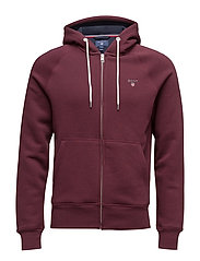 GANT ORIGINAL FULL ZIP SWEAT HOODIE - PURPLE WINE