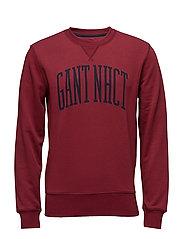 O. GANT NHCT C-NECK SWEAT - MAHOGNY RED