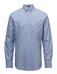 OP1. BRUSHED OXFORD SOLID REG BD - BLUE OCEAN