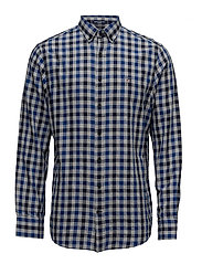 O2. NORDIC PLAID GINGHAM REG BD - YALE BLUE