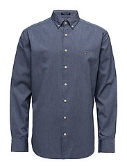 O1. TECH PREP OXFORD SOLID REG BD - YALE BLUE