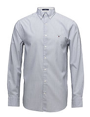 OP2. TECH PREP OXFORD STRIPE REG BD - YALE BLUE