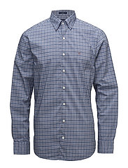 O1. TP BROADCLOTH CHECK REG HBD - YALE BLUE