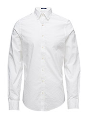 OXFORD DOBBY BANKER FITTED TOWN - WHITE