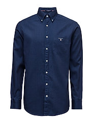 THE INDIGO SHIRT REG BD - DARK INDIGO