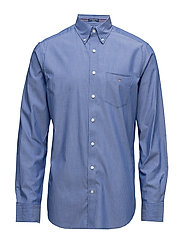THE BROADCLOTH PINSTRIPE REG BD - YALE BLUE