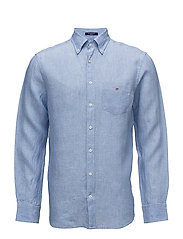 THE LINEN SHIRT REG BD - CAPRI BLUE