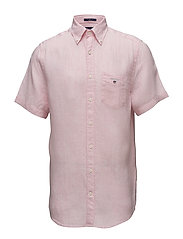 THE LINEN SHIRT REG SS  BD - SHADOW ROSE