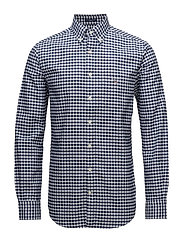 THE OXFORD GINGHAM REG BD - PERSIAN BLUE