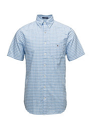 THE OXFORD GINGHAM REG SS BD - CAPRI BLUE