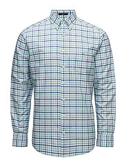 THE OXFORD 3 COL GINGHAM REG BD - SPEARMINT