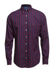 FRONT DESK TWILL CHECK LS BD - BLOOD