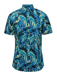 O2. PARROT PRINT FIT TOWN SS - PERSIAN BLUE