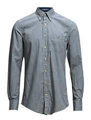 S. BRIGHTWATERS POPL GINGHAM LS BD - DRAGON BLUE