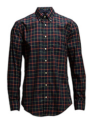S. SOUTH SHORE TWILL CHECK LS BD - THUNDER BLUE