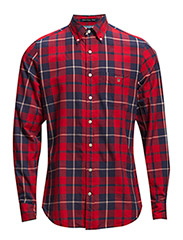 OXFORD MADRAS CHECK LS FBD - RED
