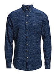 THE NORTHVILLE PRINT SHIRT LS FBD - YALE BLUE