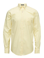 THE WASHED PINPOINT OXFORD LS BD - CLEAR YELLOW