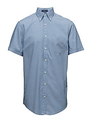 THE WASHED PINPOINT OXFORD SS BD - CLAY BLUE