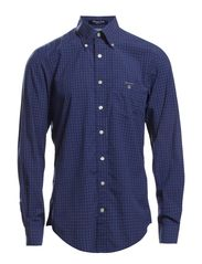 E. WILMINGTON POPLIN CHECK LS BD - ORION BLUE