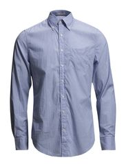 YALE ARCHIVE POPLIN STRIPE LS FBD - PACIFIC BLUE