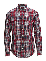 PATCHWORK MADRAS CHECK LS FBD - RED
