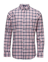 COMFORT OXFORD CHECK REG BD - CALIFORNIA PINK