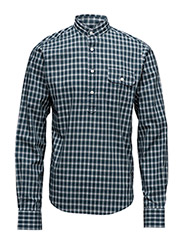THE MB RIPPED COLLAR CHECK - BLUE LAGOON