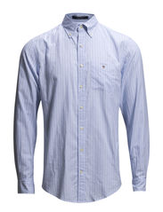 L. SUNSET OXFORD STRIPE LS BD - SEA BLUE