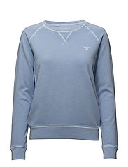 O1. SUNBLEACHED C-NECK SWEAT - CAPRI BLUE