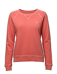 O1. SUNBLEACHED C-NECK SWEAT - STRONG CORAL