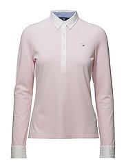 OXFORD PIQUE LS RUGGER - CALIFORNIA PINK
