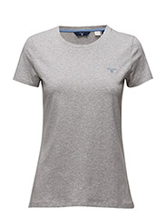 COTT/ELA C-NECK SS T-SHIRT - LIGHT GREY MELANGE