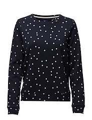 O. DOTTED C-NECK SWEAT - EVENING BLUE