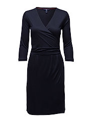 O. LYOCELL WRAPDRESS - EVENING BLUE