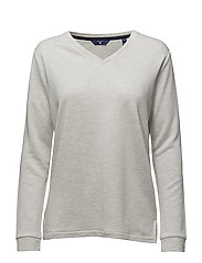 O. LOUNGE V-NECK SWEAT - LIGHT GREY MELANGE