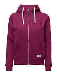 GANT FULL ZIP HOODIE - RASPBERRY PURPLE