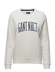 O. GANT NHCT C-NECK SWEAT - EGGSHELL
