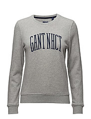 O. GANT NHCT C-NECK SWEAT - LIGHT GREY MELANGE