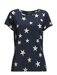 STAR PRINTED T-SHIRT - THUNDER BLUE