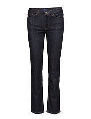 STRAIGHT BLUE DENIM JEAN - DARK BLUE