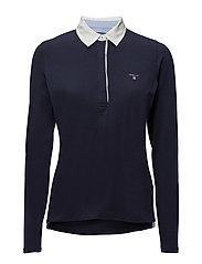 SOLID JERSEY LS RUGGER - EVENING BLUE