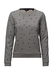 OP1. AO EMBR SNOWFL. C-NECK SWEAT - GREY MELANGE