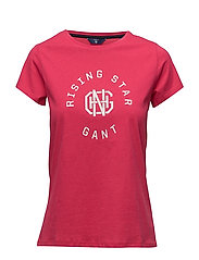OP2. GANT RISING STAR SS T-SHIRT - ROSE RED